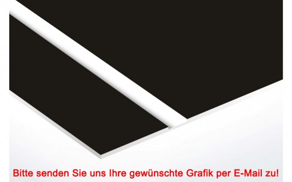 Flexibles Kunststoffschild Schwarz/Weiß