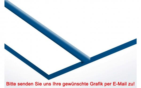 Laminat Kunststoffschild Weiß/Blau