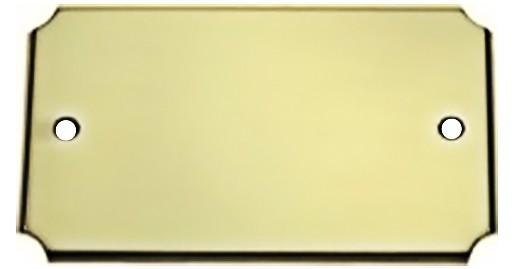Türschild aus Messing poliert - Typ Z5-1
