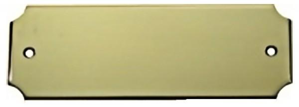 Türschild aus Messing poliert - Typ Z6-1