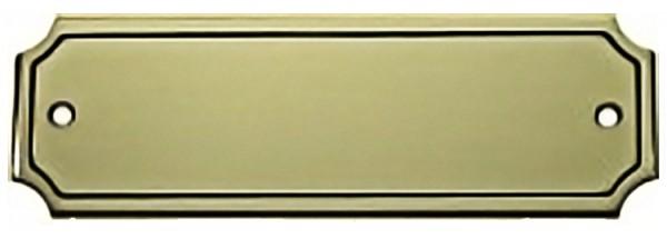 Türschild aus Messing poliert - Typ Z6-3