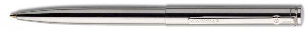 Automatic Kugelschreiber Edelstahl geschliffen mit Stempel
