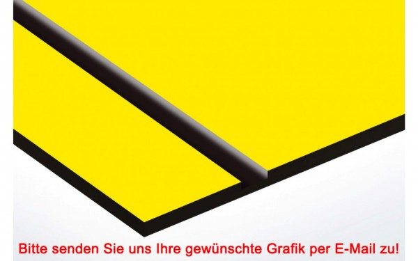 Laminat Kunststoffschild Gelb/Schwarz