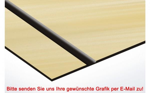 Flexibles Kunststoffschild Gold/Schwarz