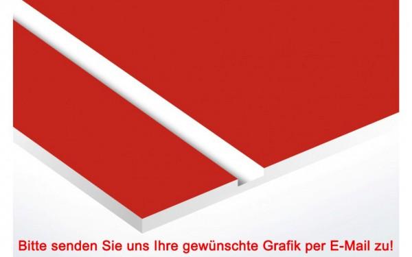 Laminat Kunststoffschild Rot/Weiß