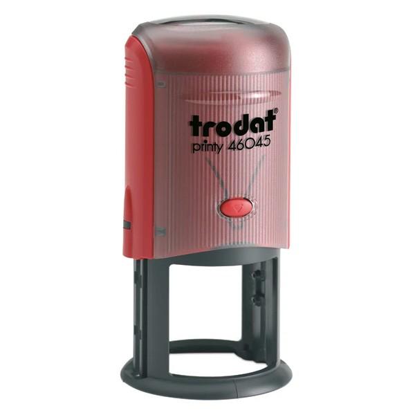 Trodat Printy 46045 ⌀45mm mit Textplatte rot