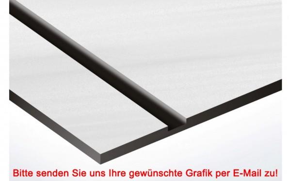 Metallic Kunststoffschild Edelstahl/Schwarz