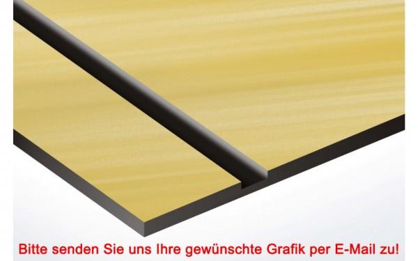 Metallic Kunststoffschild Gold/Schwarz