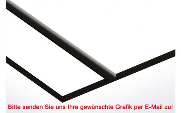 Laminat Kunststoffschild Weiß/Schwarz