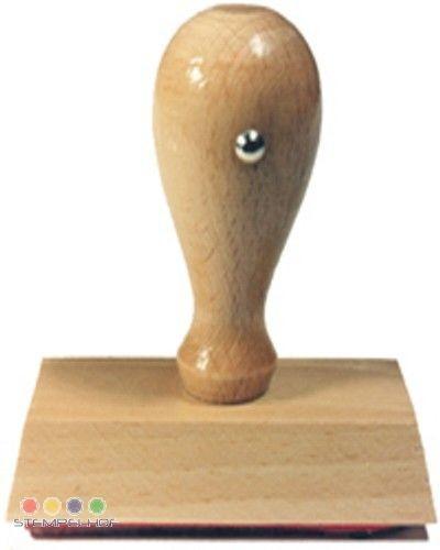 Holzstempel 80x80 mm, bis 14 Zeilen