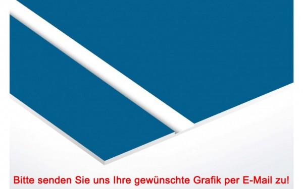 Flexibles Kunststoffschild Blau/Weiß