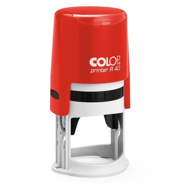 Colop Printer R 40 mit Stempelplatte Ø40mm rot