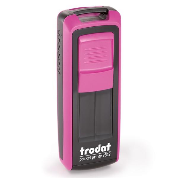 Trodat Pocket Printy 9512 mit Textplatte pink