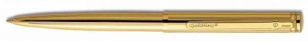 Automatic Kugelschreiber 24 K Gold mit Stempel