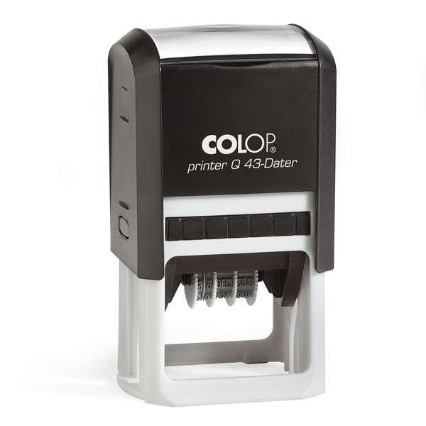 Colop Printer Q43 Datumstempel mit Text Quadratisch