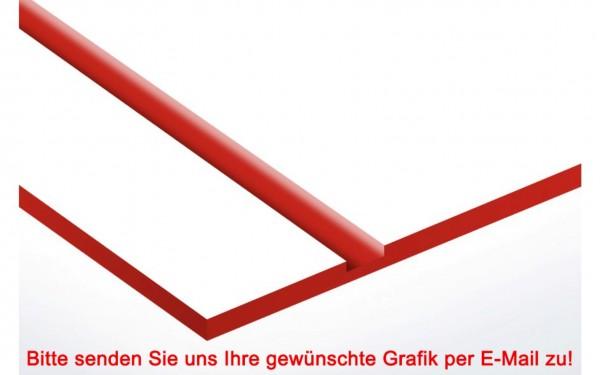 Laminat Kunststoffschild Weiß/Rot