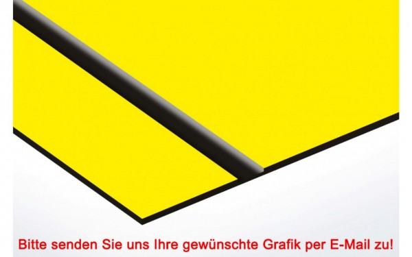 Flexibles Kunststoffschild Gelb/Schwarz