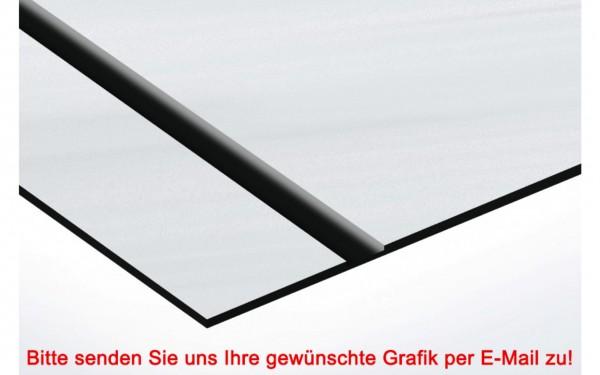 Flexibles Kunststoffschild Aluminium/Schwarz
