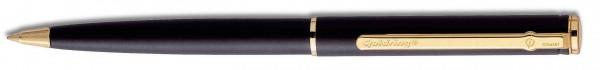Automatic Kugelschreiber matt schwarz mit Stempel