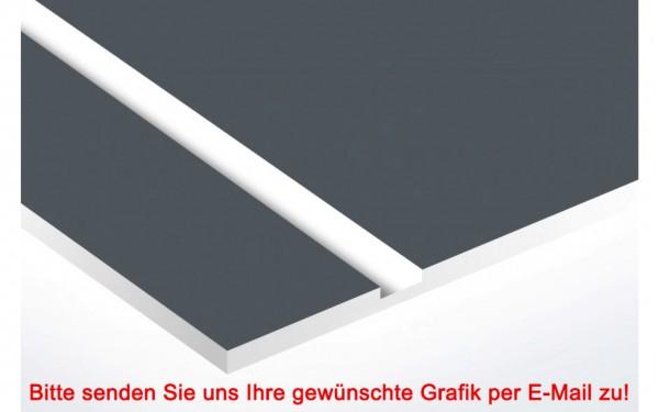 Laminat Kunststoffschild Basaltgrau/Weiß
