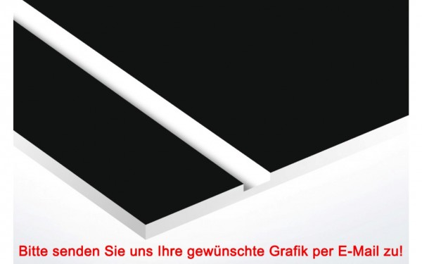 Laminat Kunststoffschild Schwarz/Weiß
