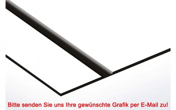 Flexibles Kunststoffschild Weiß/Schwarz