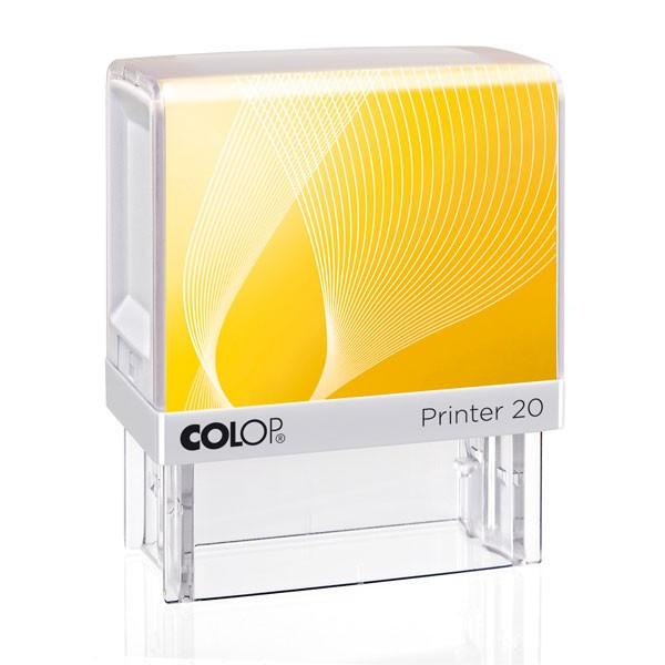 Colop Printer 20 mit Textplatte gelb