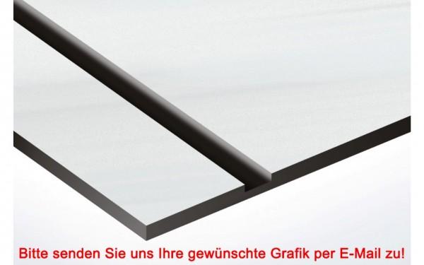 Metallic Kunststoffschild Nickel /Schwarz