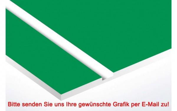 Laminat Kunststoffschild Grün/Weiß