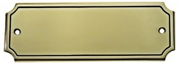 Türschild aus Messing poliert - Typ Z7-3