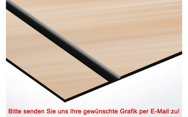 Flexibles Kunststoffschild Kupfer/Schwarz
